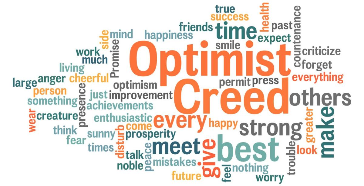 i am cheerfull and optimistic person An optimistic person thinks the best possible thing will happen, and hopes for it even if it's not likely someone who's a tad too confident this way is also sometimes called optimistic.